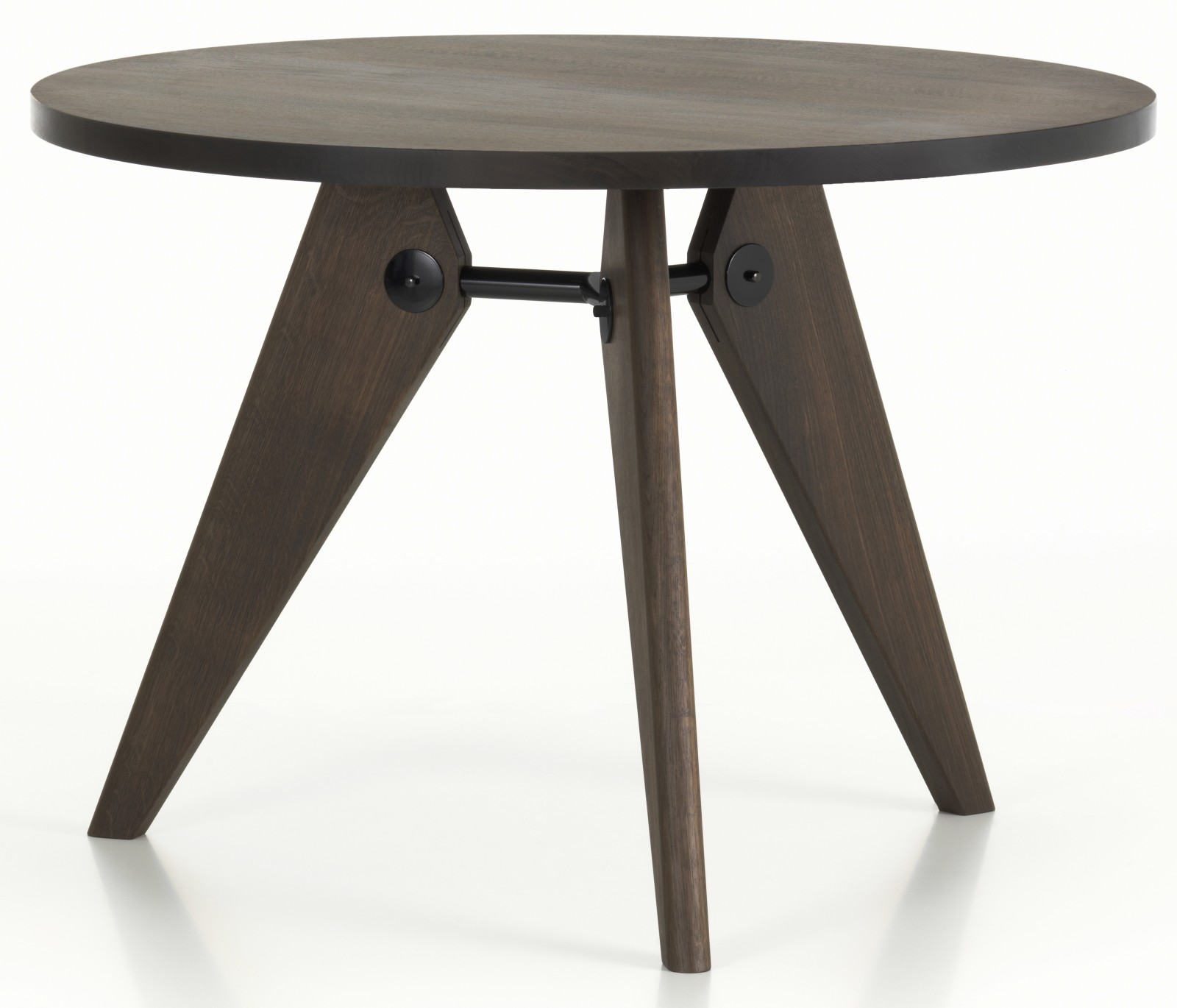 Gueridon Dining Table 90 smoked oiled solid oak, 1050