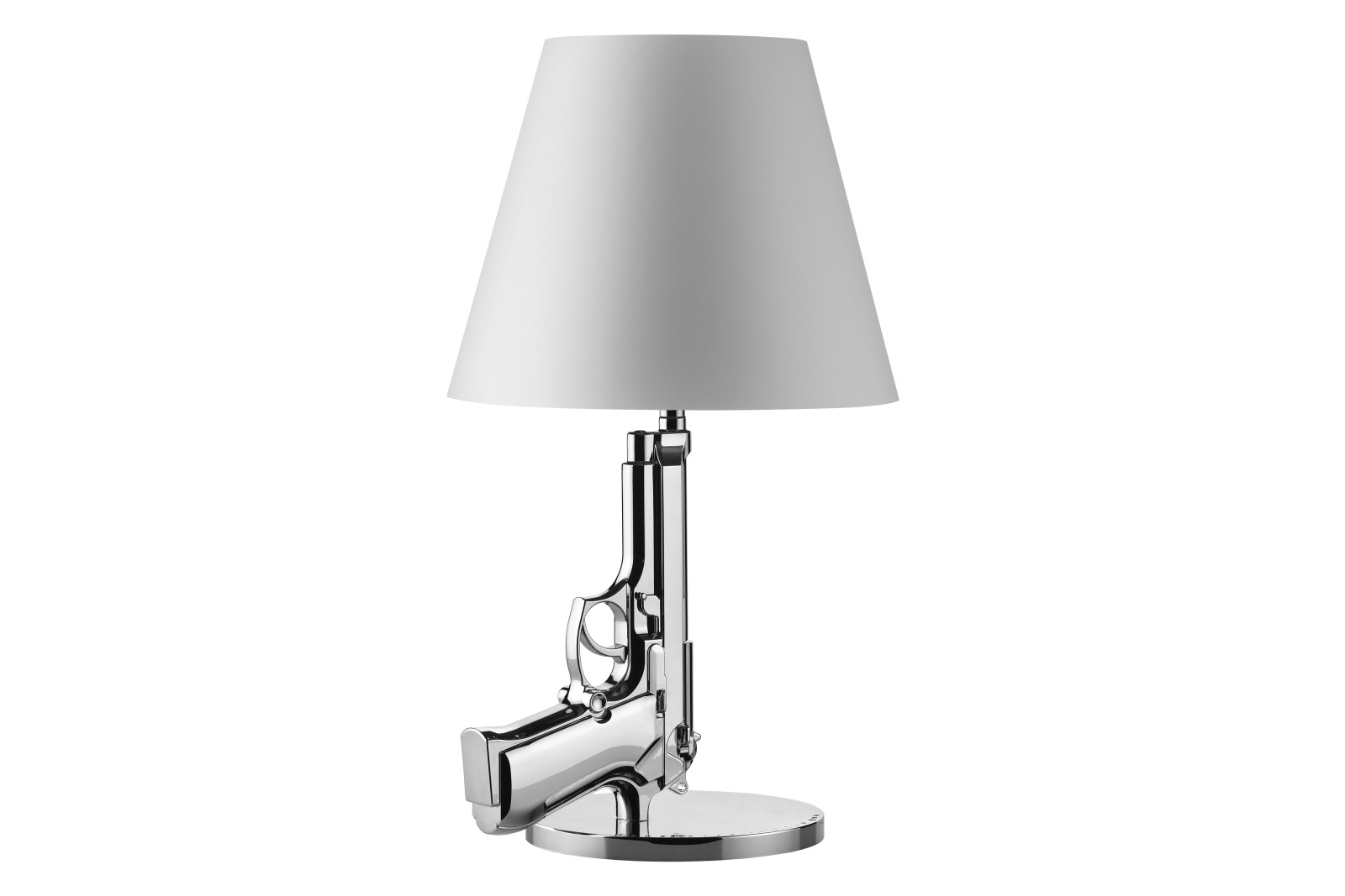 Guns Bedside Lamp Metal Chrome