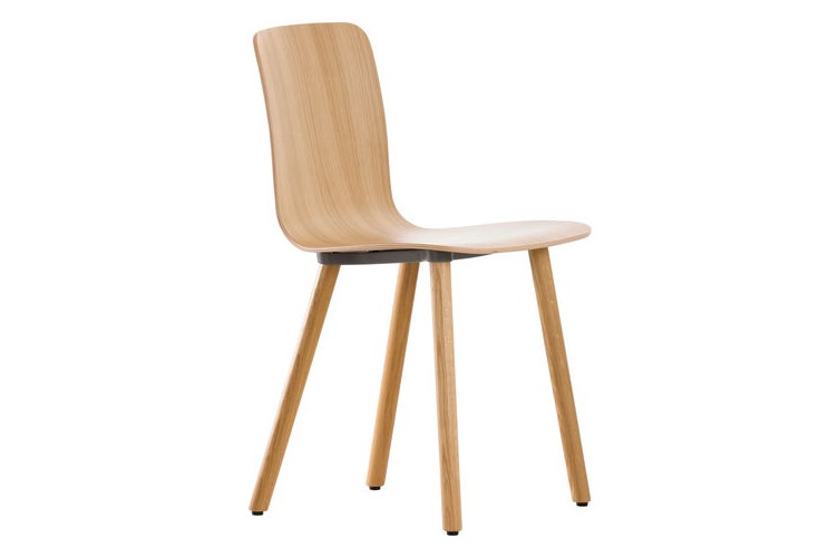 HAL Wood Base Ply Dining Chair 04 glides for carpet, Natural oak with protective varnish, Natural oa