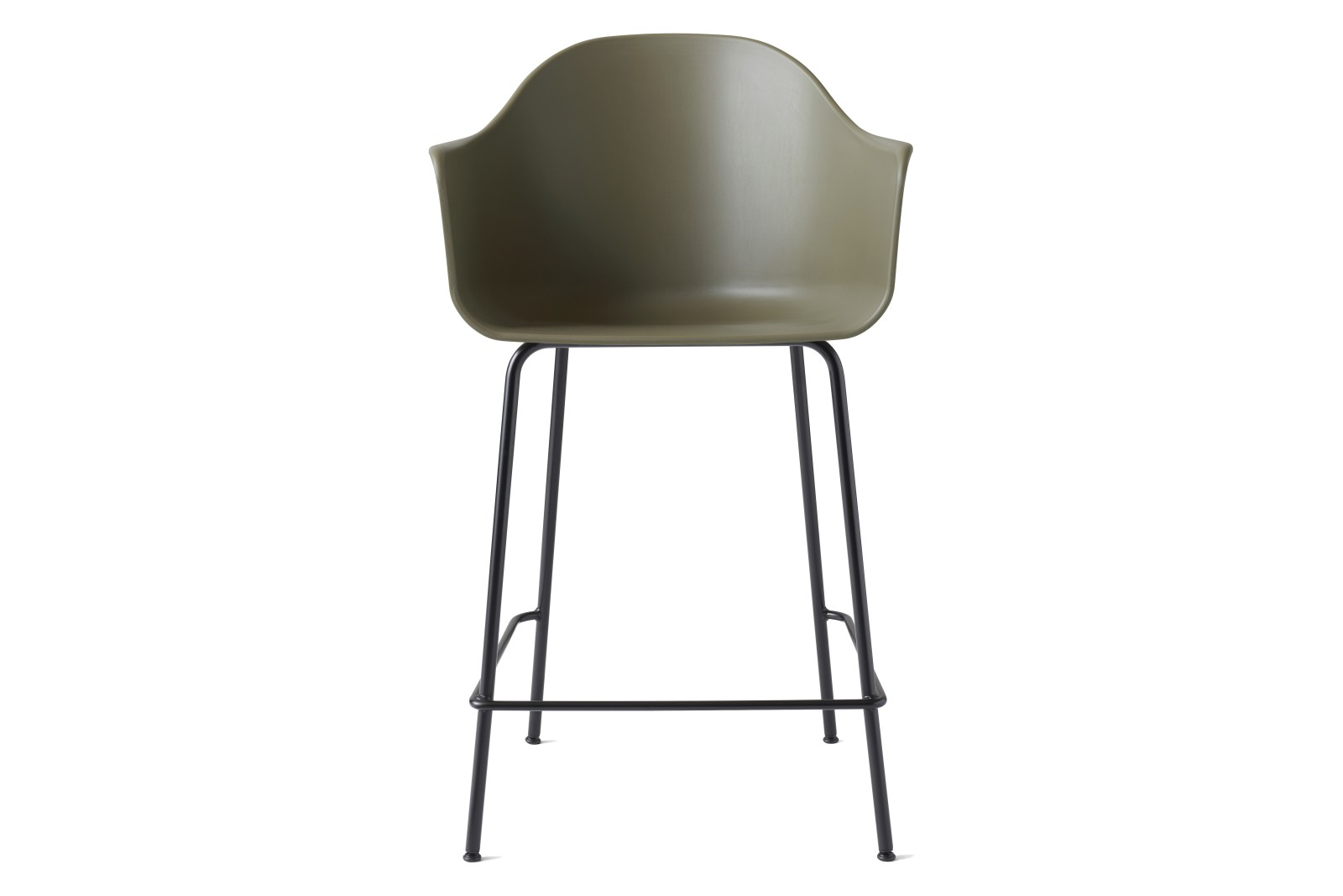 Harbour Counter Chair Black Steel Base/Olive Shell