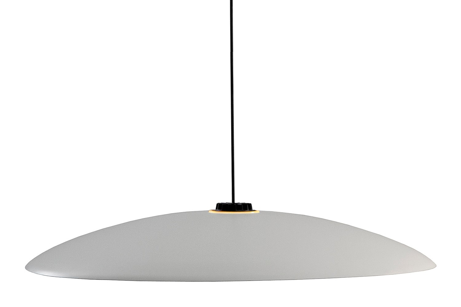 HeadHat Plate Pendant Light White - Dimmable, Large