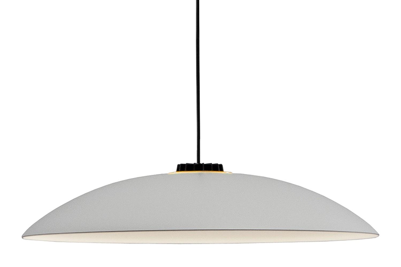 HeadHat Plate Pendant Light White - Dimmable, Medium