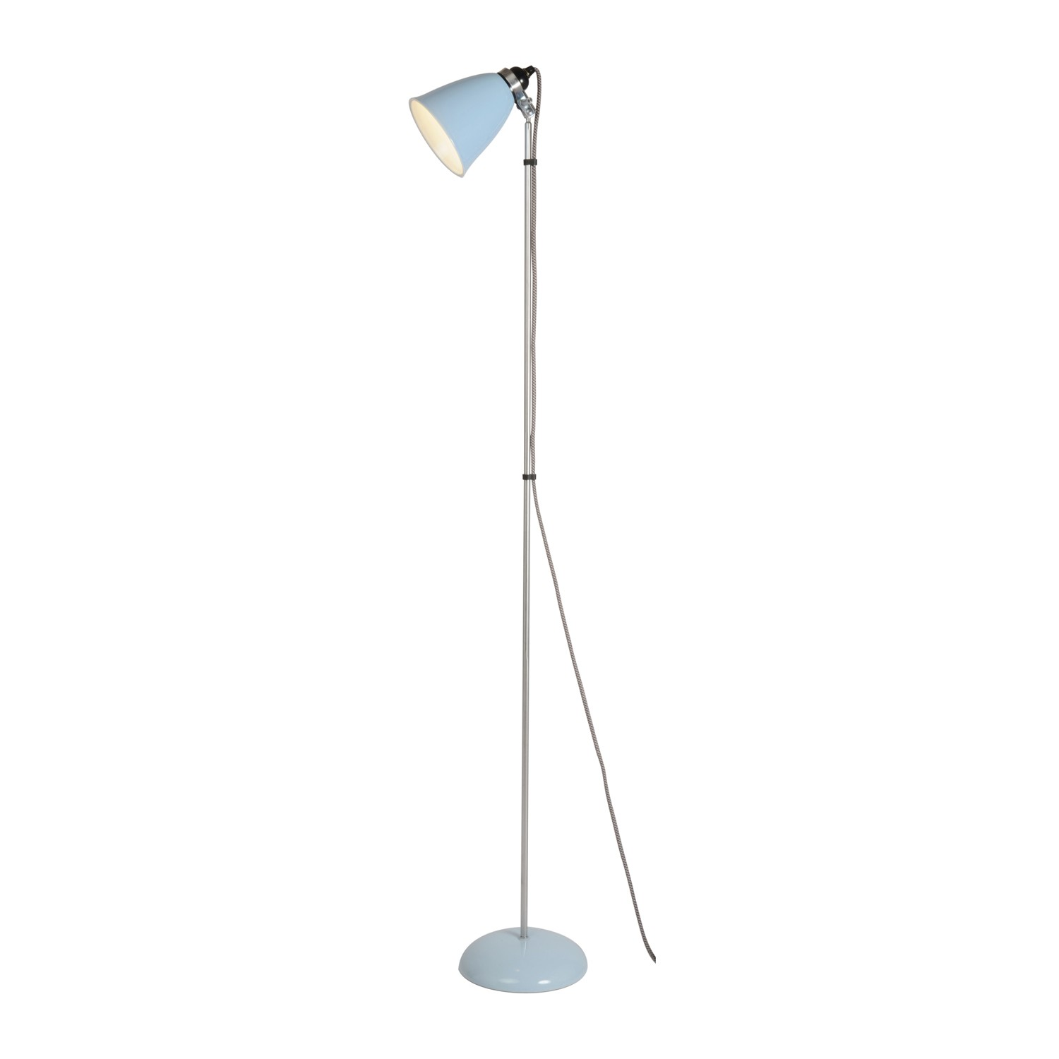 Hector Medium Dome Floor Lamp Light Blue