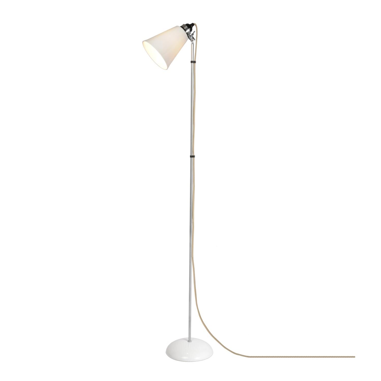 Hector Medium Flowerpot Floor Lamp Natural White