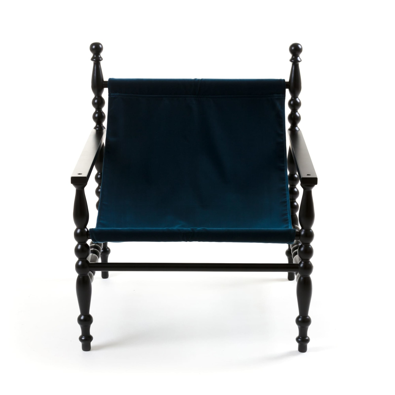 Heritage Armchair Black base, Blue