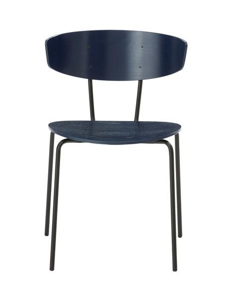 Herman Dining Chair - Set of 2 Dark Blue