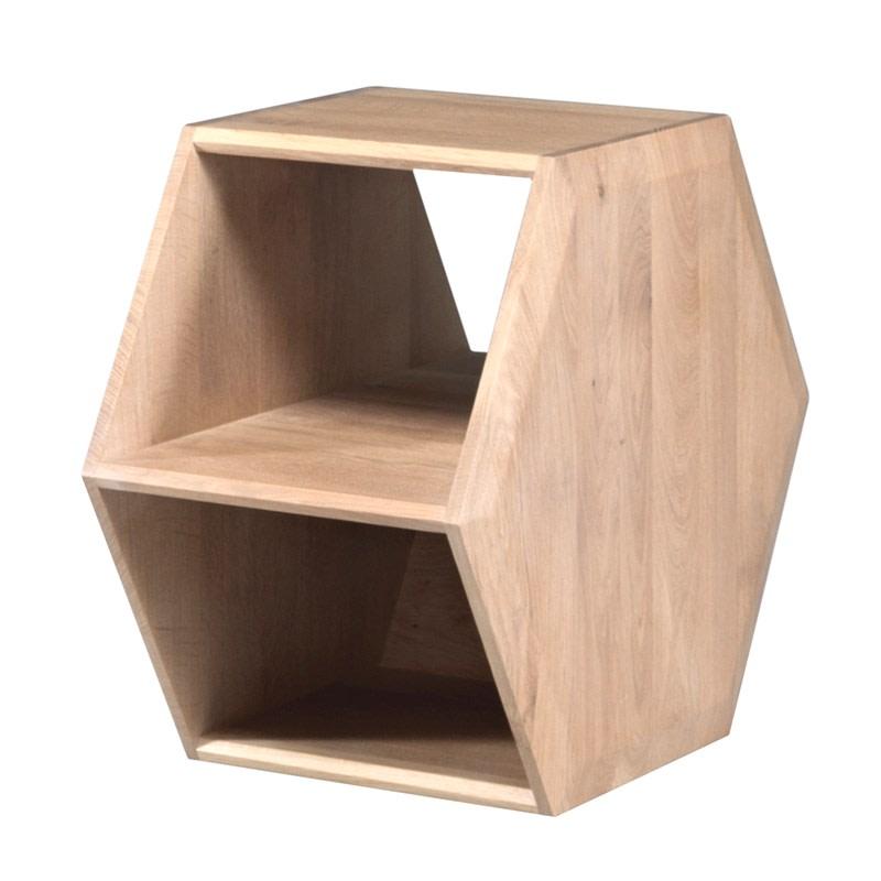 Hexa Side Table Oak Natural