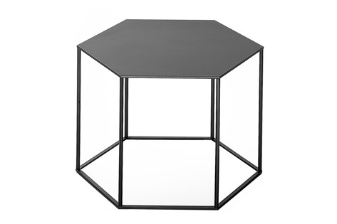 Hexagon Stacking Side Table - Set Of 3 B59 Matt Black