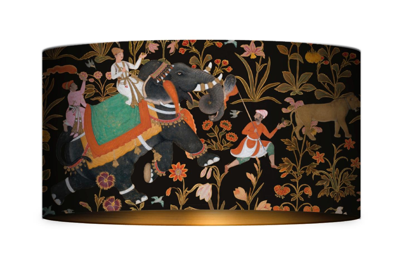 Hindustan Anthracite Drum Table/Floor Shade