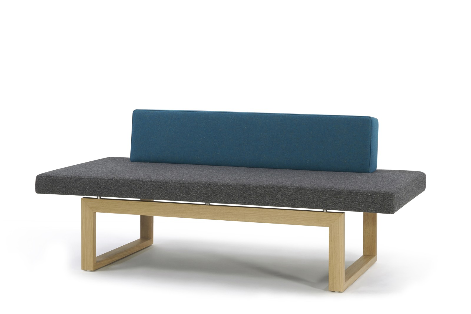 HM106G Quiet Seating Sofa Camira Intervene Oak Base