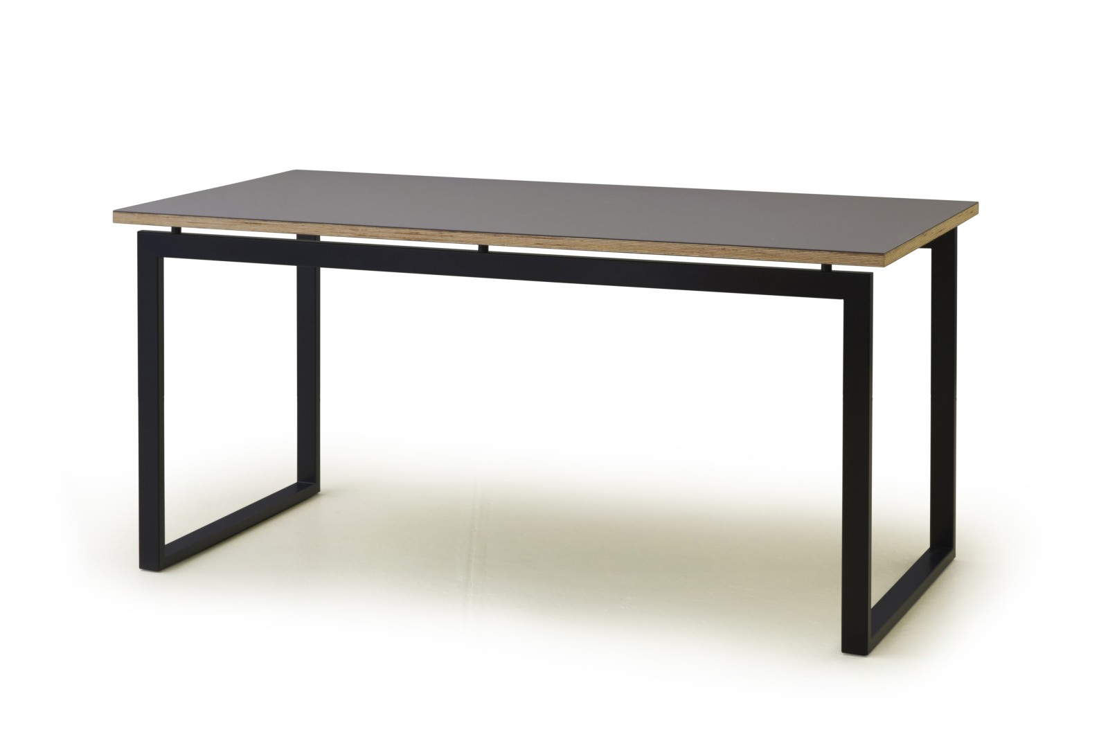 HM107A Quiet Surfaces Table Oak Veneer Grey Legs