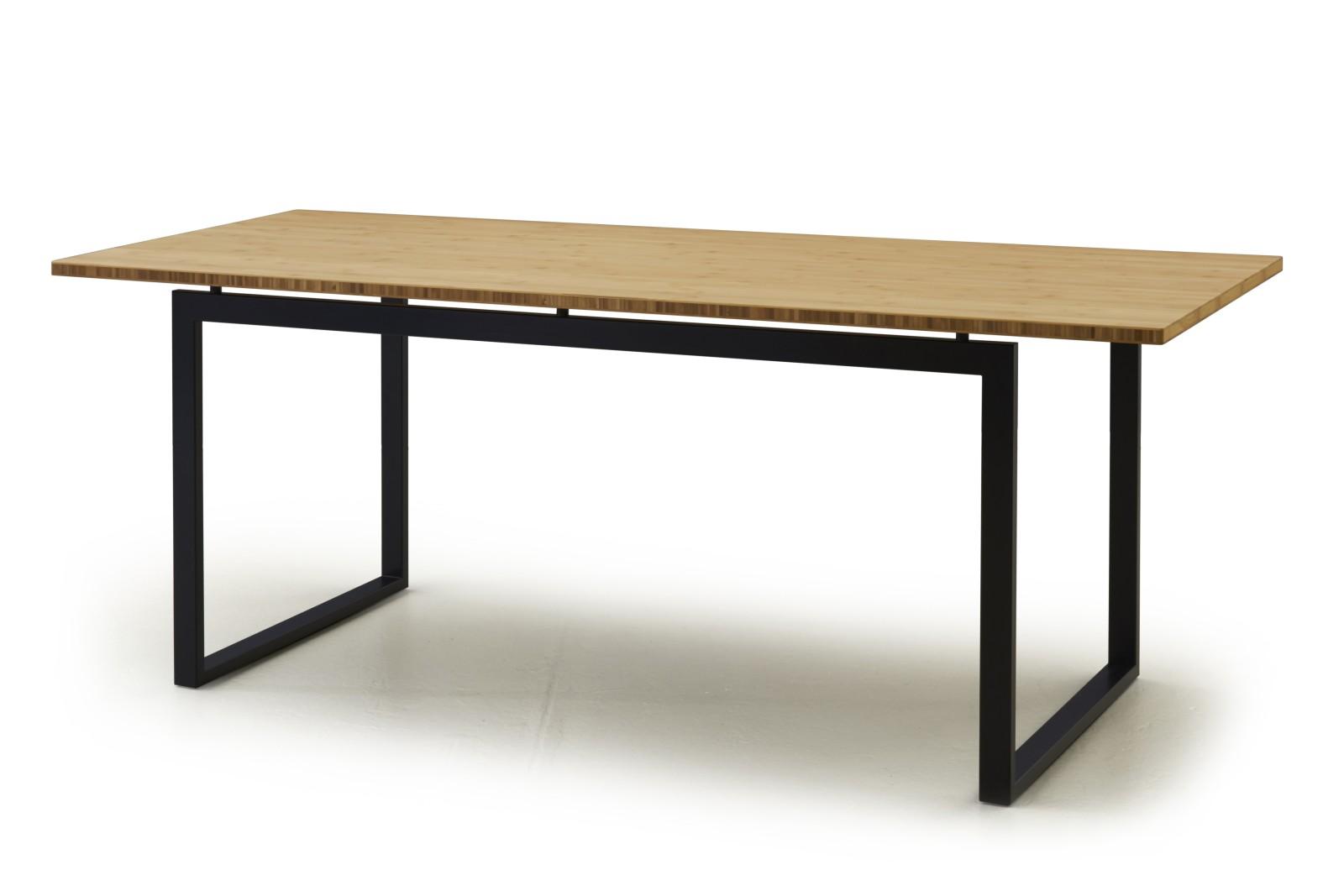 HM107B Quiet Surfaces Table Oak Veneer Grey Legs