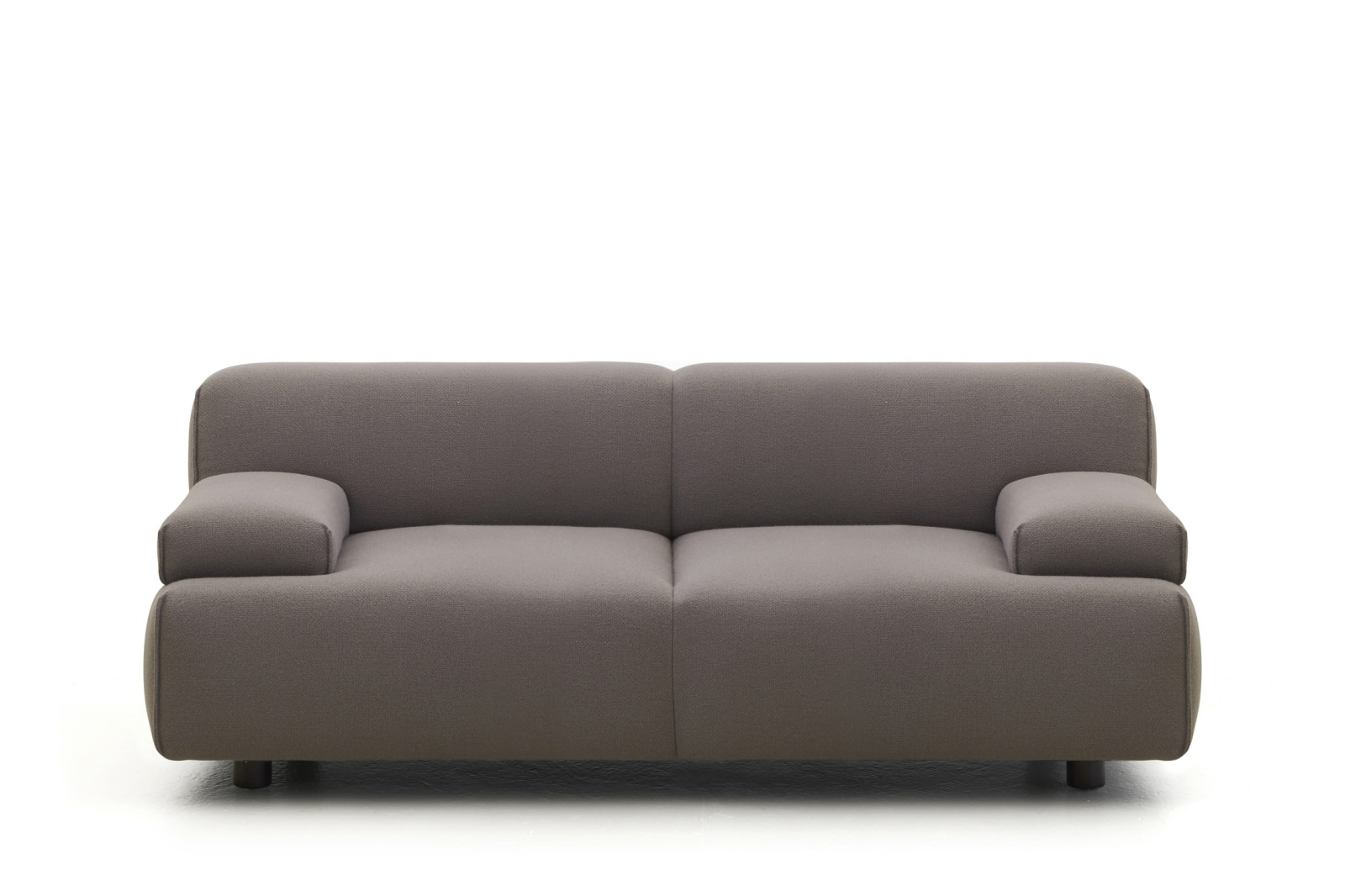 HM108N Plump 2-Seat Sofa Camira Aquarius, Natural Lacquered Oak