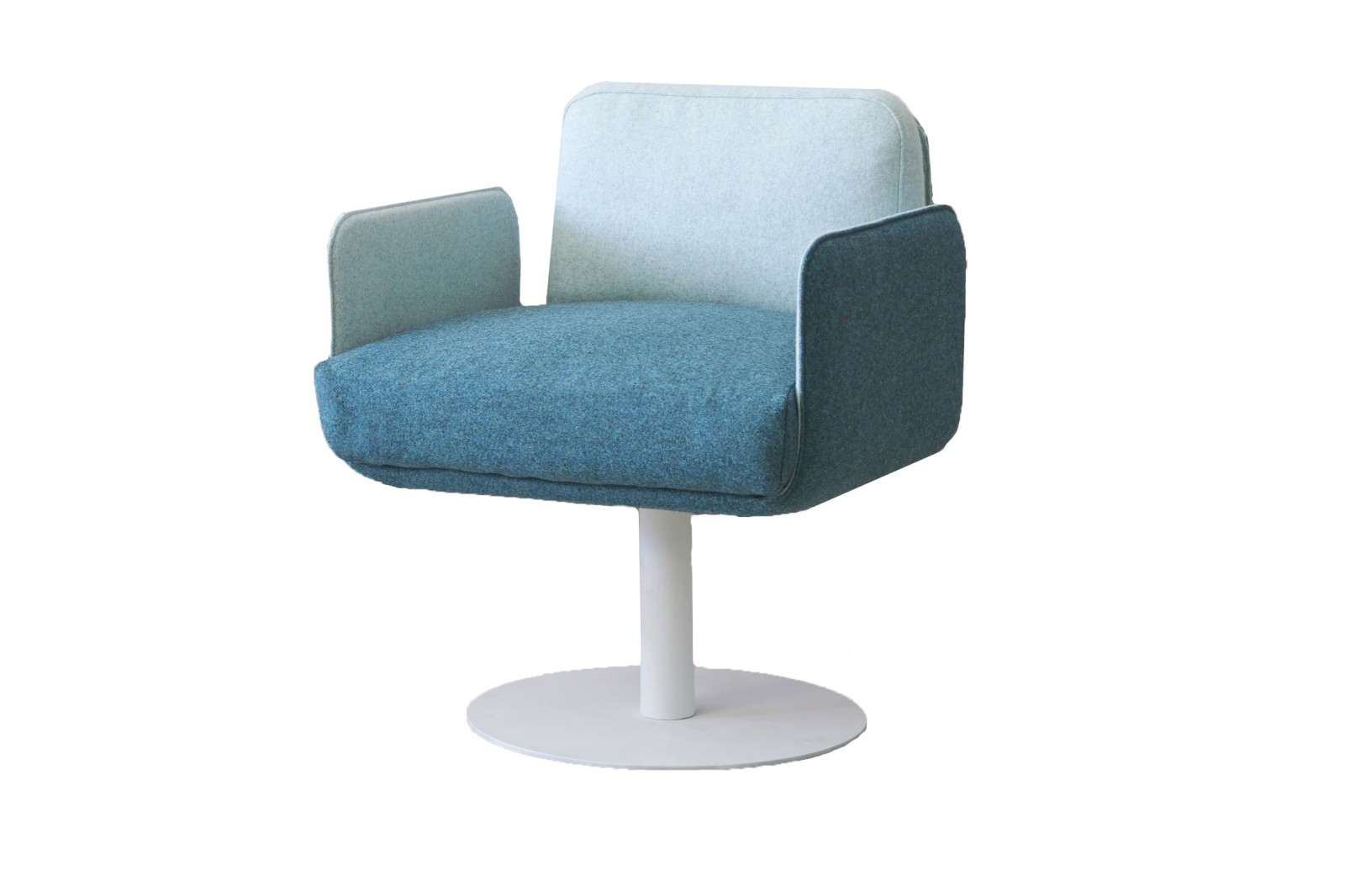 HM10C FLIX Swivel Arm Chair Kvadrat Canvas 2 White Base