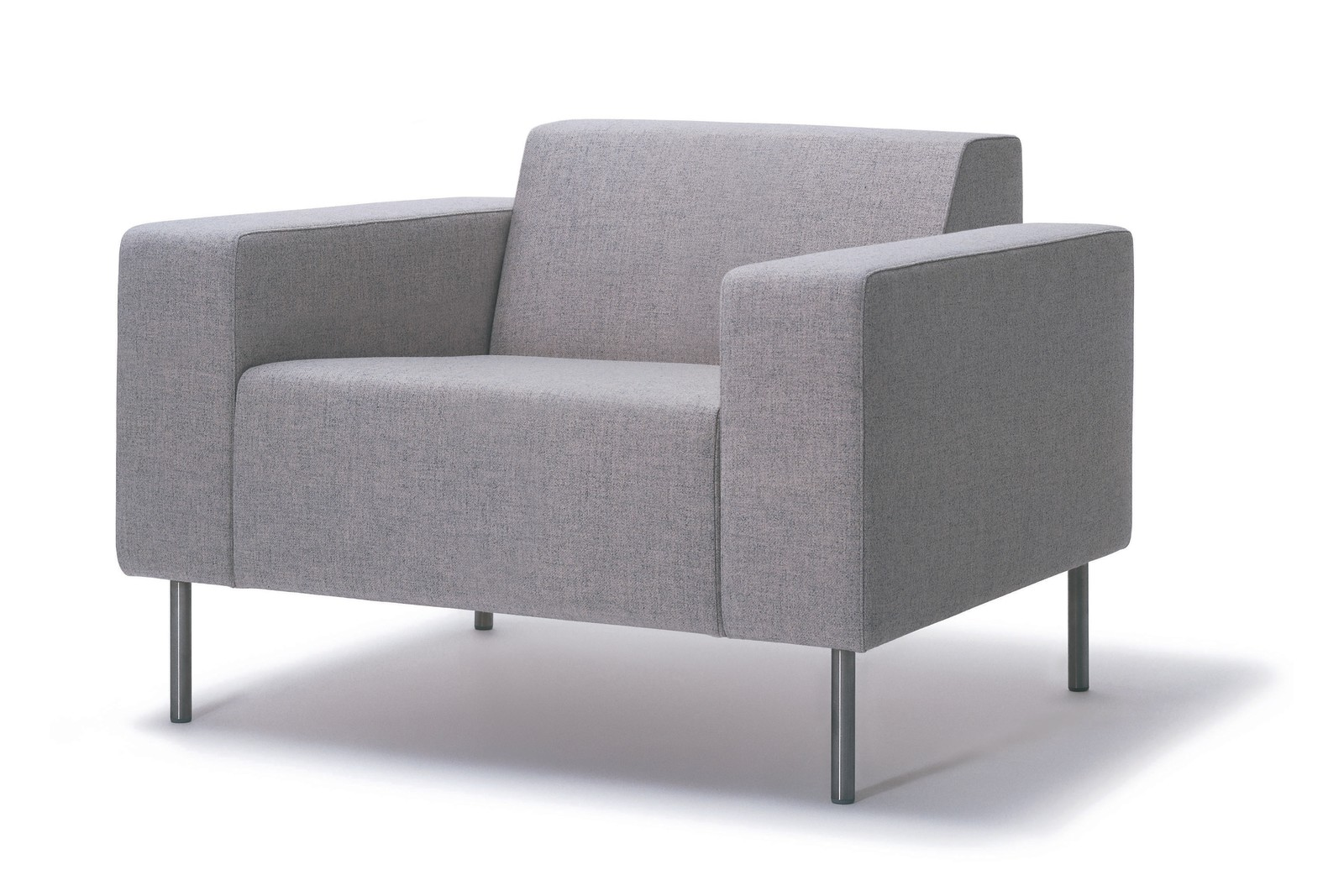 HM18D2 Origin Armchair Kvadrat Hallingdal 65 Brushed Stainless Steel
