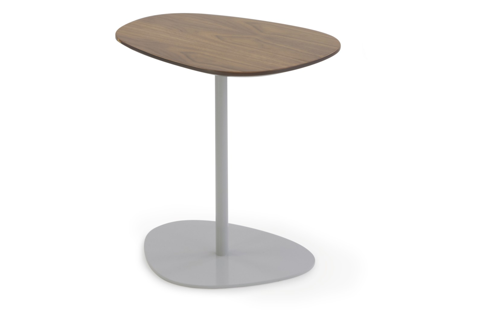 HM63H Pebble Low Table Oak Veneer Black Painted Steel