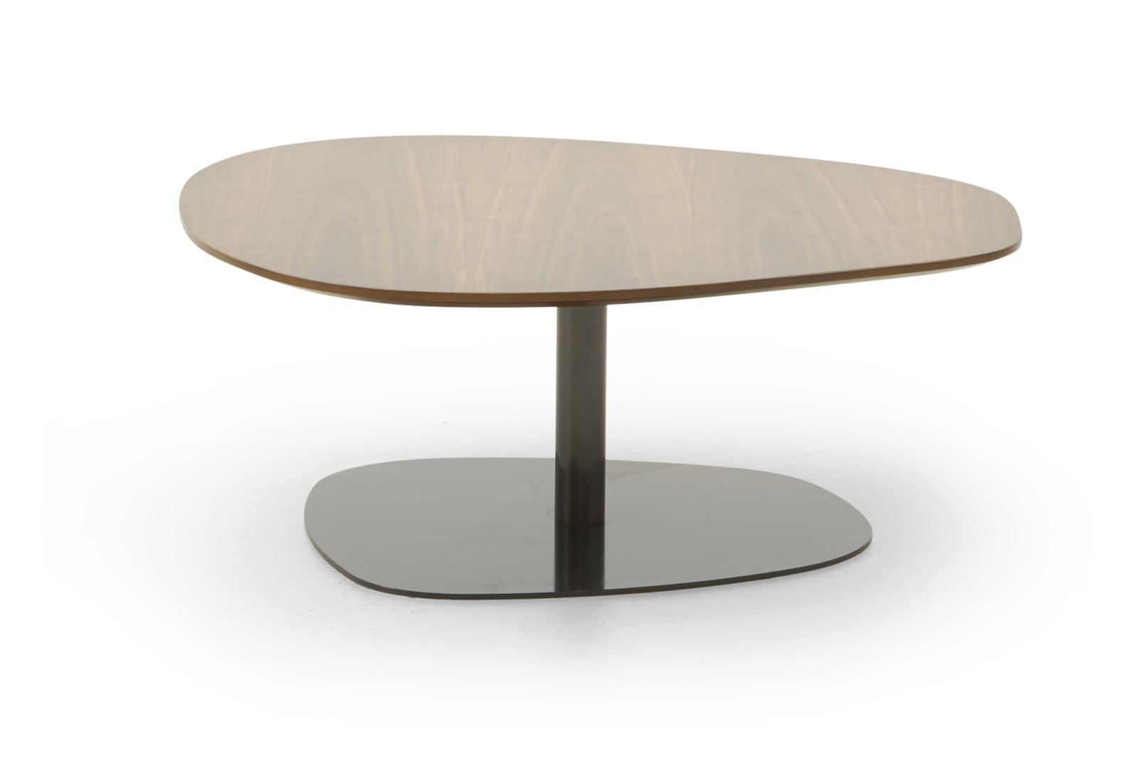 HM63N Pebble Mid Table Sharpham Quartz Polished Copper