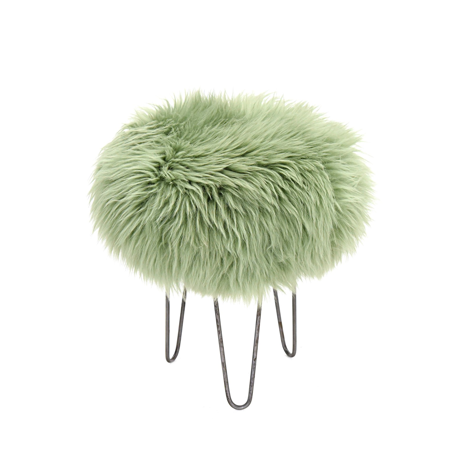 Holly - Sheepskin Footstool Sage