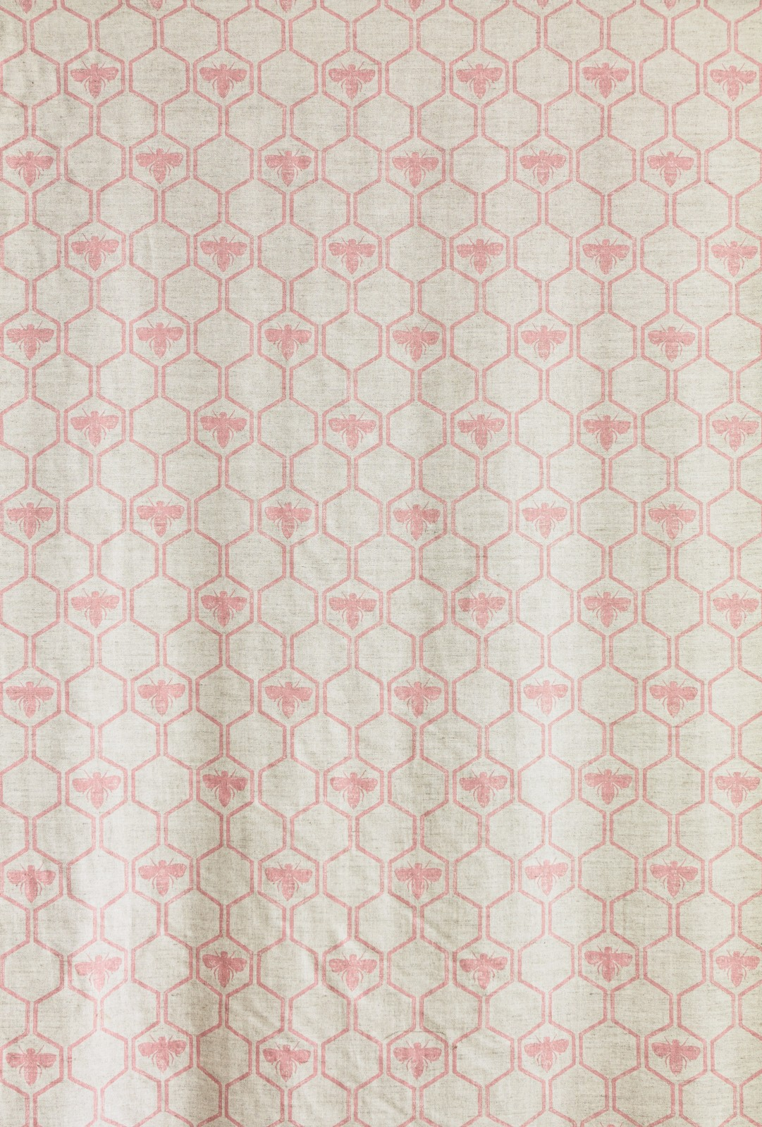 Honey Bees Fabric Rose