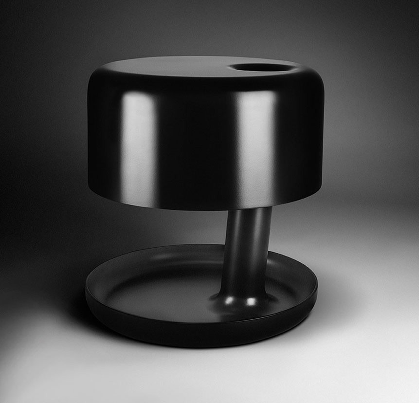 Hoodie Table Lamp Matte Black