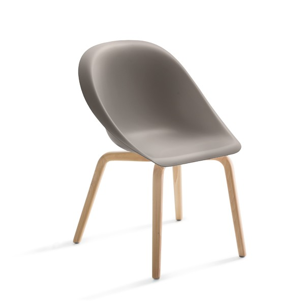 Hoop Chair Natural Beech, Dove Grey