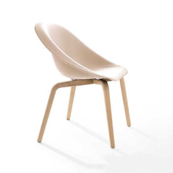 Hoop Chair Upholstered Natural Beech, LN5320