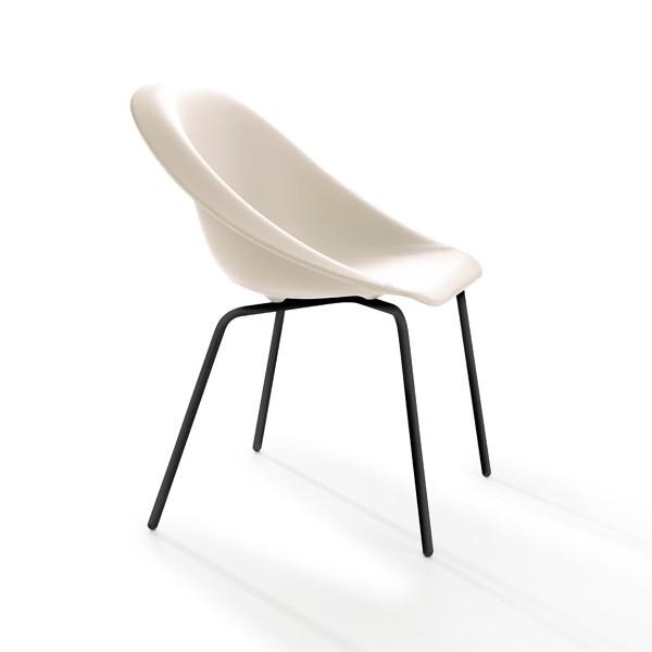 Hoop Chair Upholstered Black, LN5506
