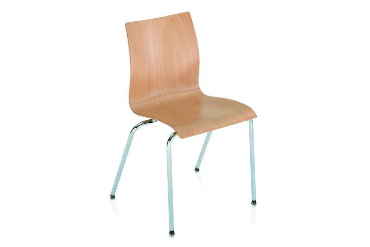 Hot Non Upholstered Dining Chair B01 Beech