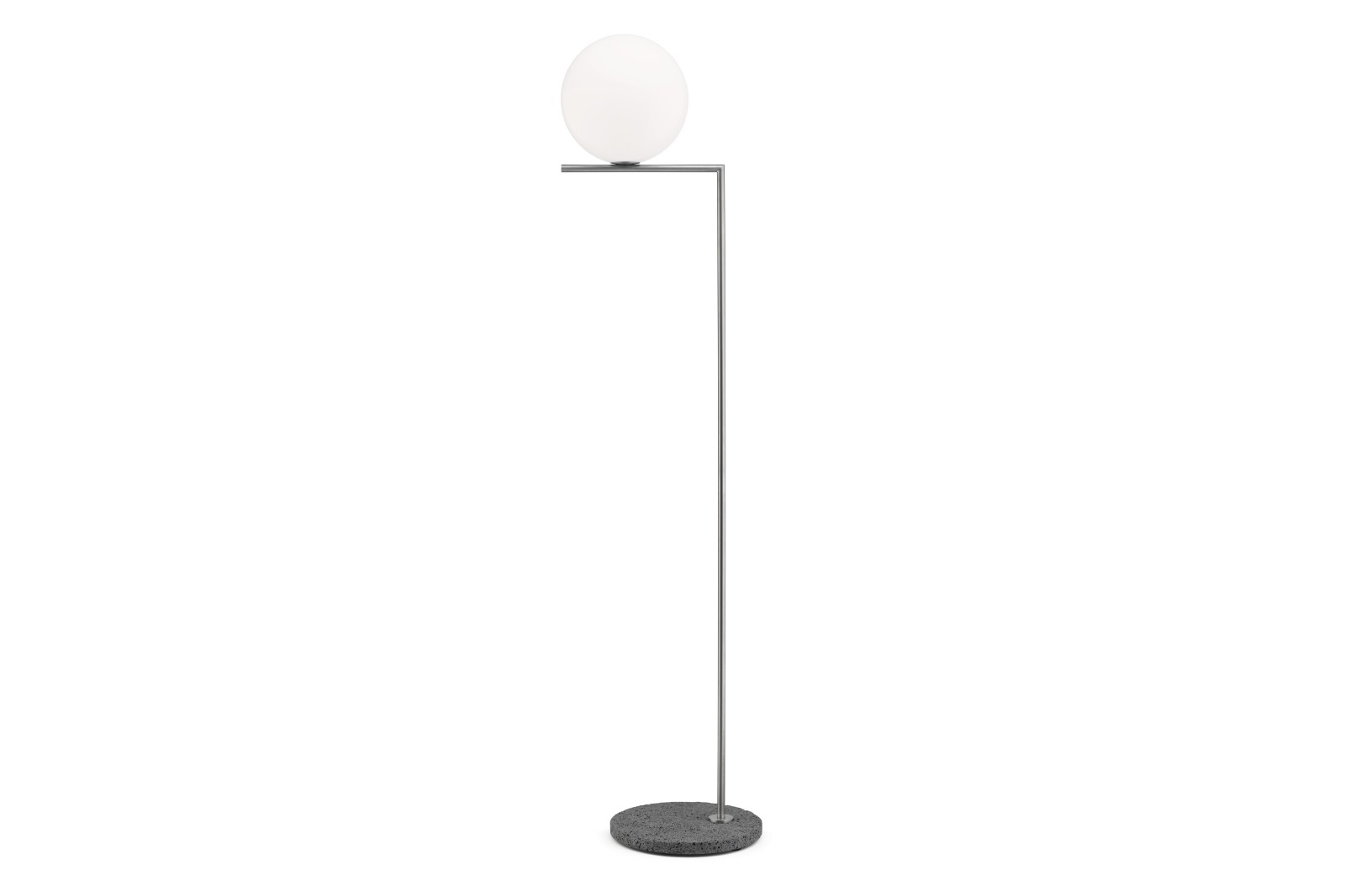 IC Outdoor / Indoor Floor Lamp Stainless Steel Structure / Occhio Di Pernice Stone Base, IC F1