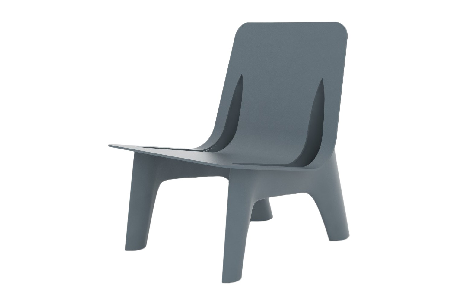 J-Chair Lounge RAL 7031, Steel