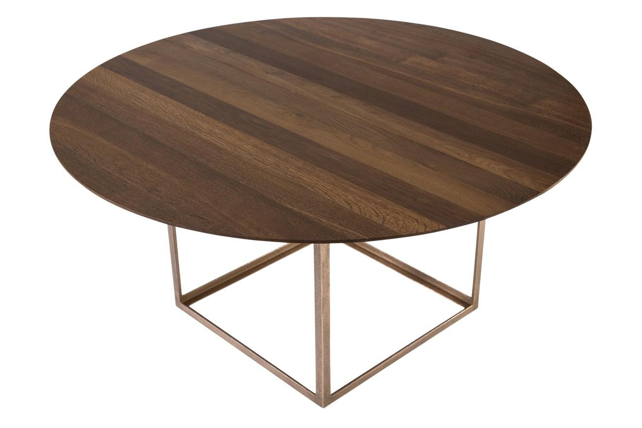 Jewel Dining Table Round Walnut Oil Treatment