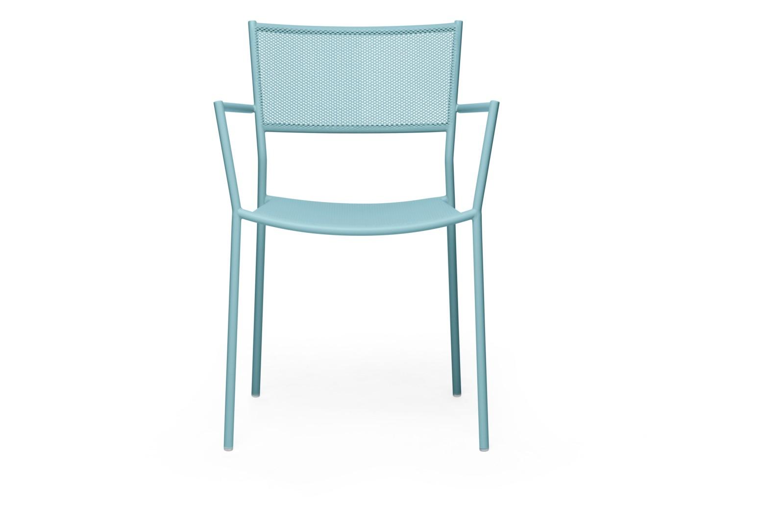 Jig Mesh Armchair Pastel Turquoise - RAL 6034