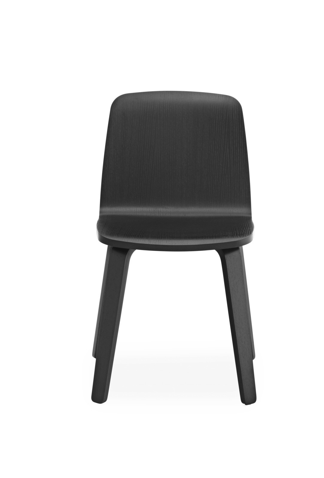 Just Chair - Wood Base Black/Black