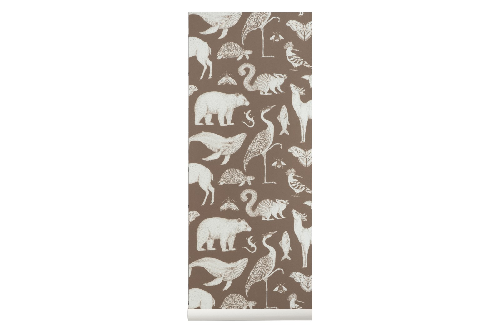 Katie Scott Wallpaper Animals - Toffee Brown