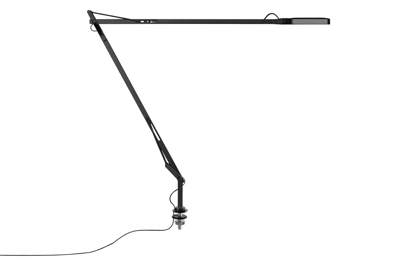 Kelvin Desk-Mounted Lamp Black, Hidden Cable