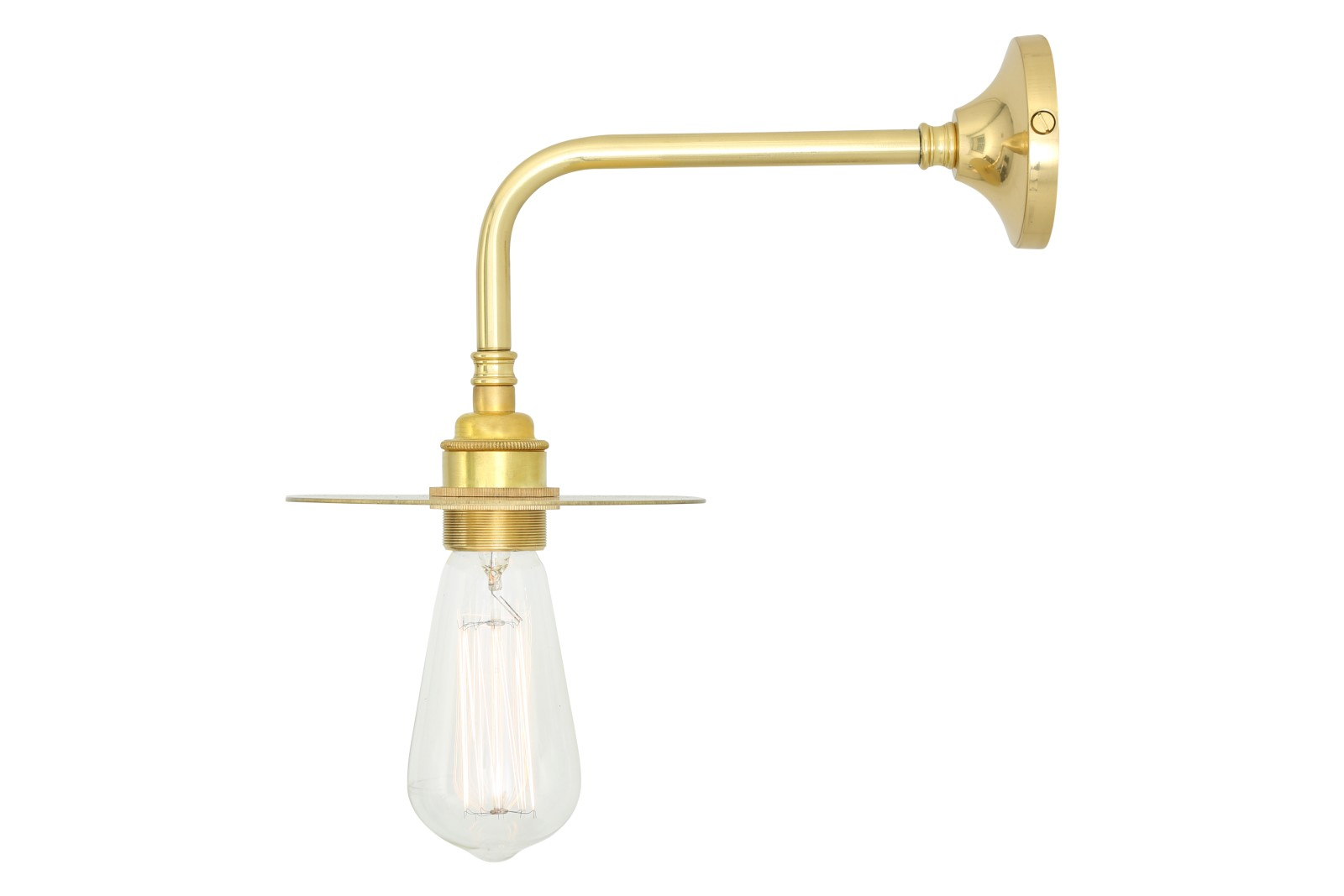 Kigoma Modern MLWL363 Wall Light Polished Brass