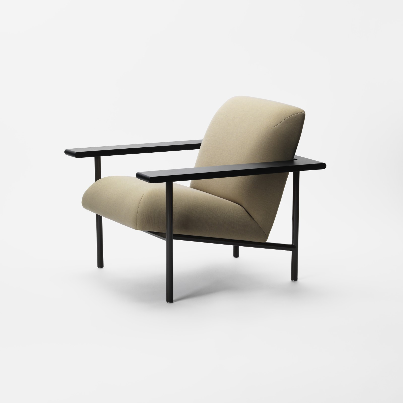 Kinoko Lounge Chair with Metal Frame Fabric A, Stained Ash