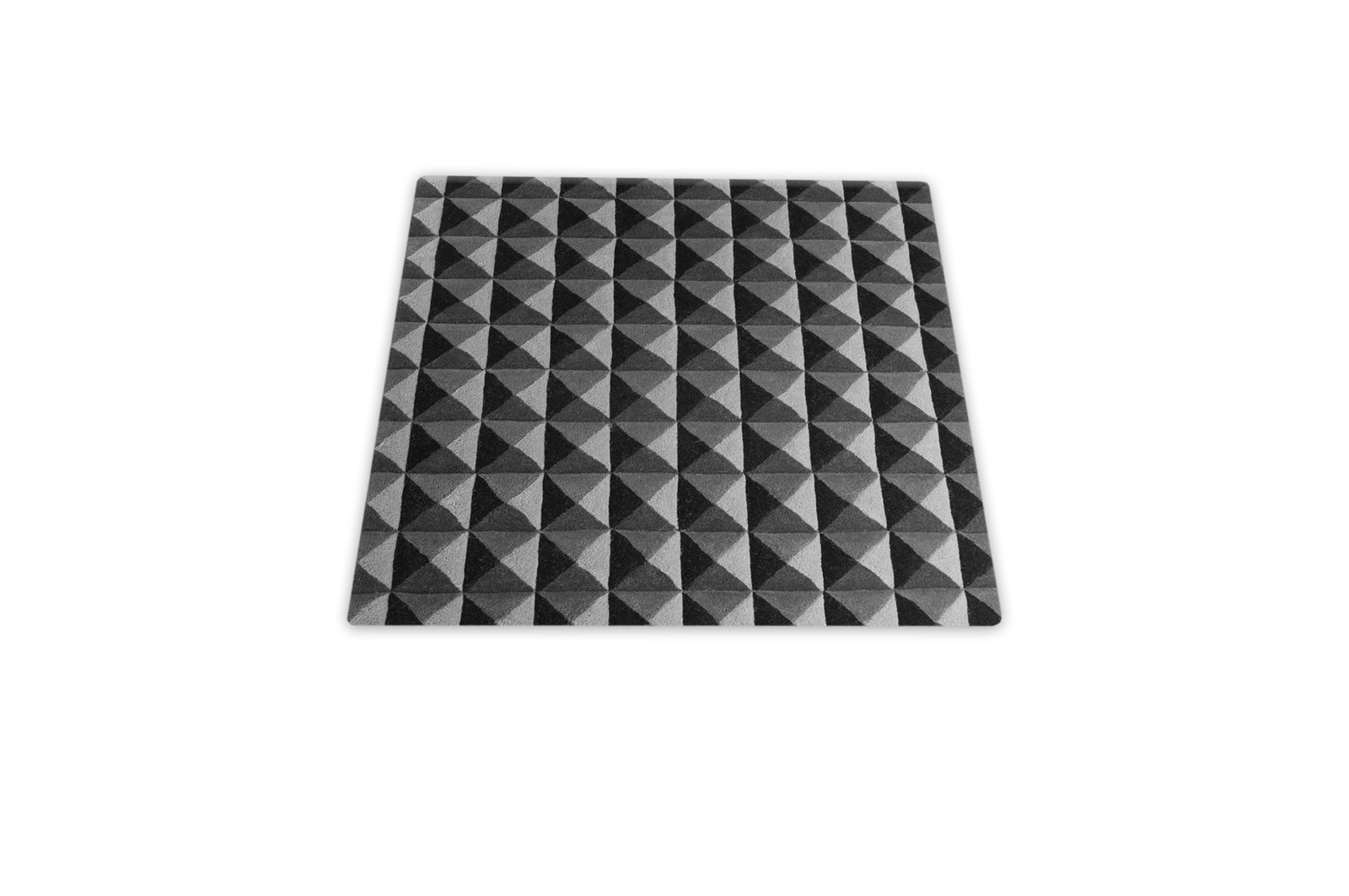 Knurled Square Rug Grey