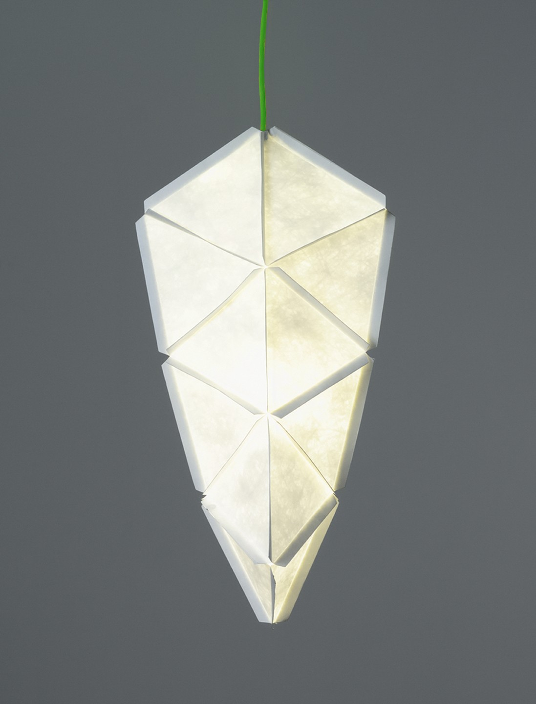 Kogi Pendant Light White with Green Cable