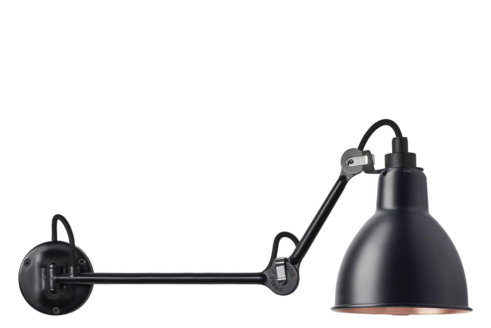 Lampe Gras N 204 Wall Light Black-Copper, 37