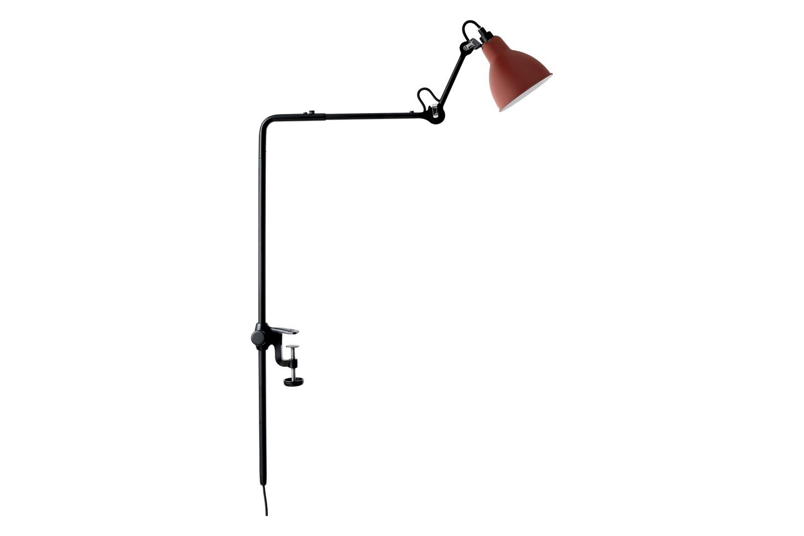 Lampe Gras N 226 Round Shade Bookshelf Lamp Red