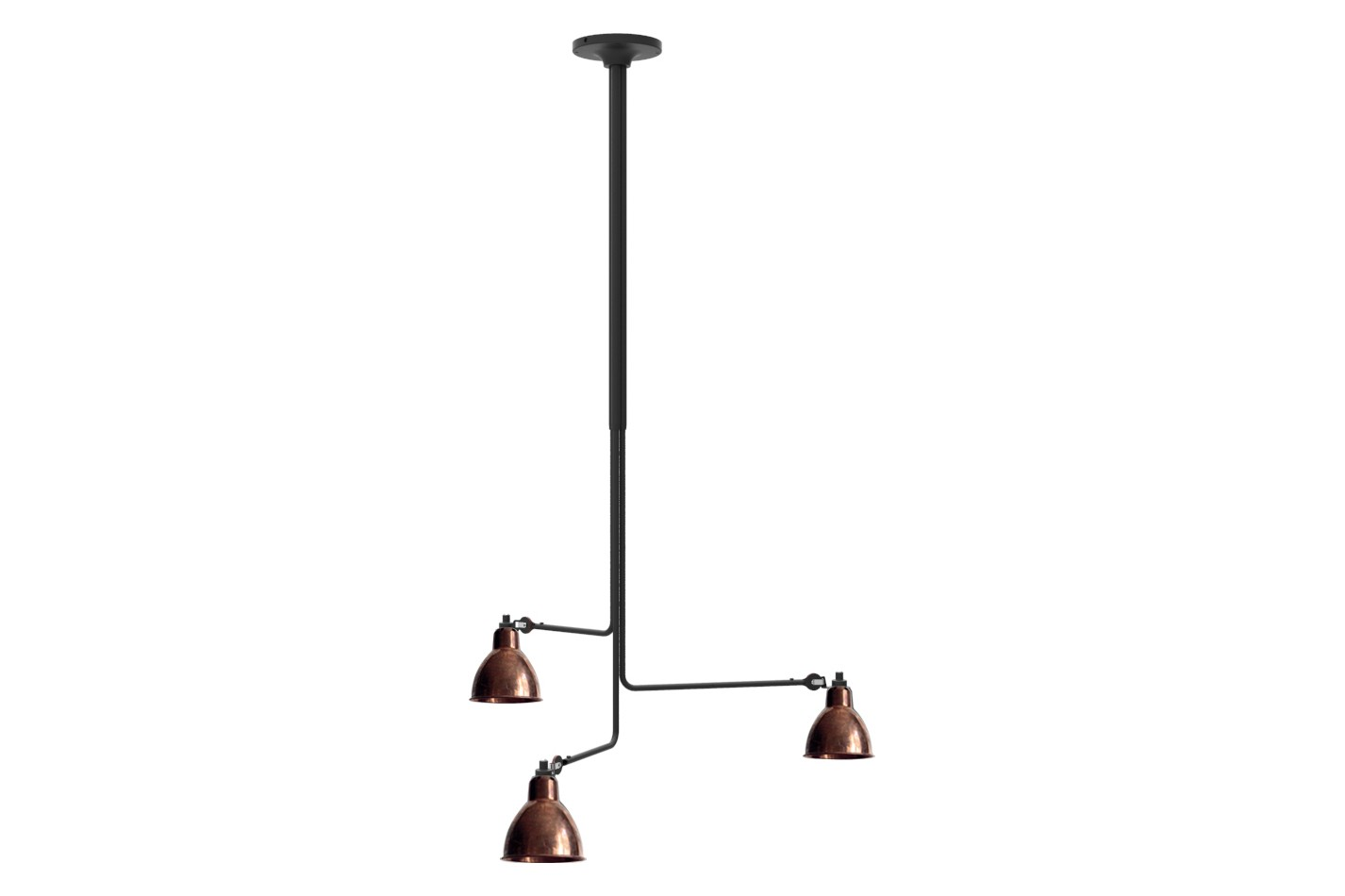 Lampe Gras N 315 Ceiling Light Raw Copper