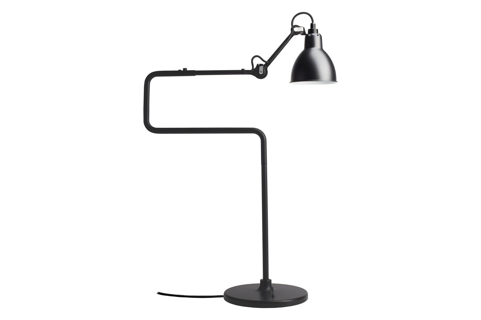 Lampe Gras N 317 Round Shade Table Lamp Black Shade