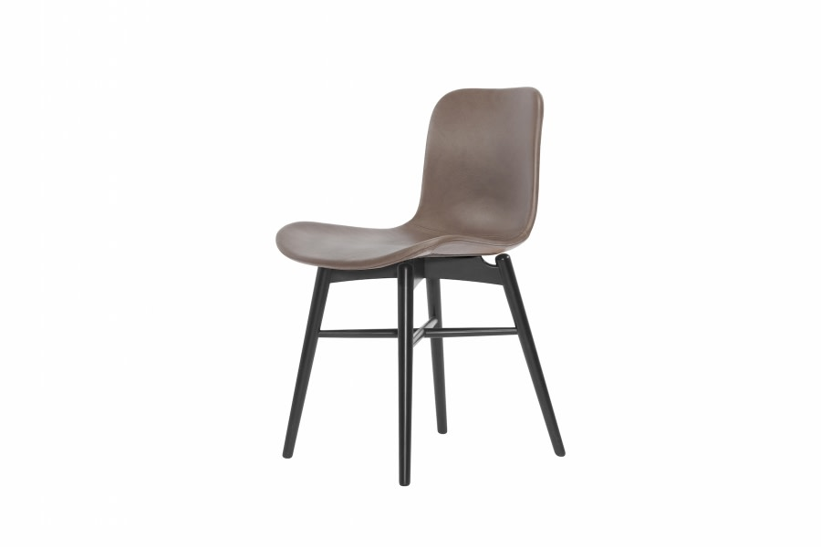 Langue Original Dining Chair, Black - Leather Brown Premium Leather