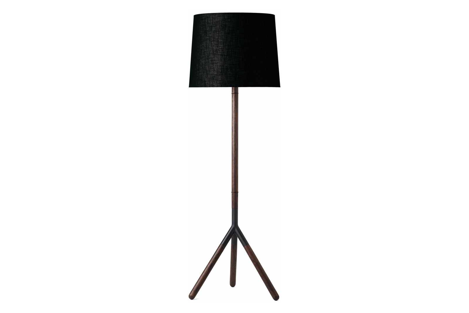 Lathe Floor Lamp Sirka Grey Stained Solid