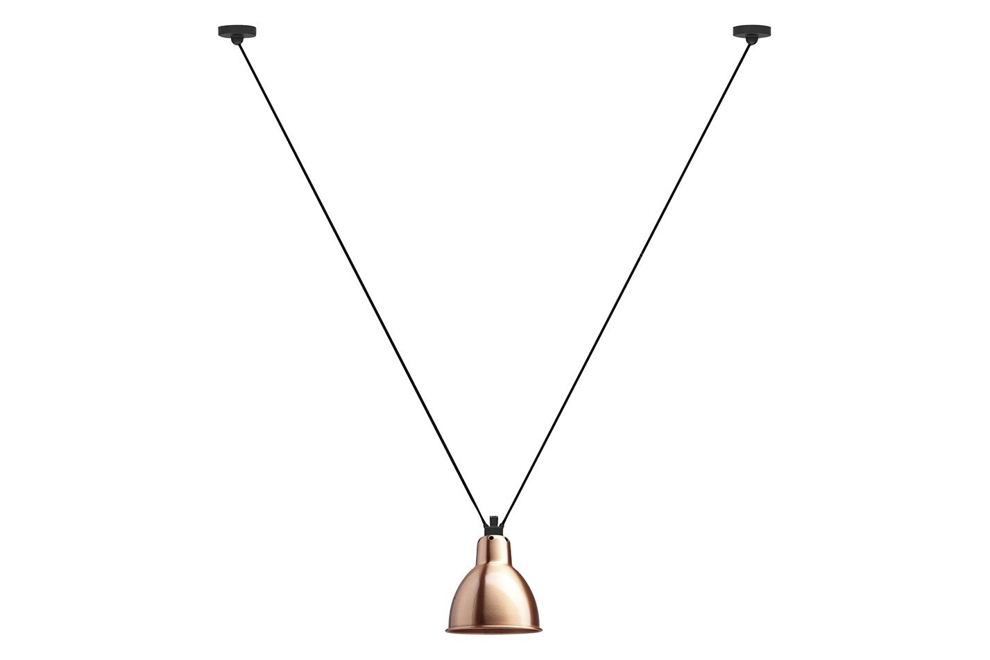 Les Acrobates De Gras 323 Round Shade Pendant Light Copper