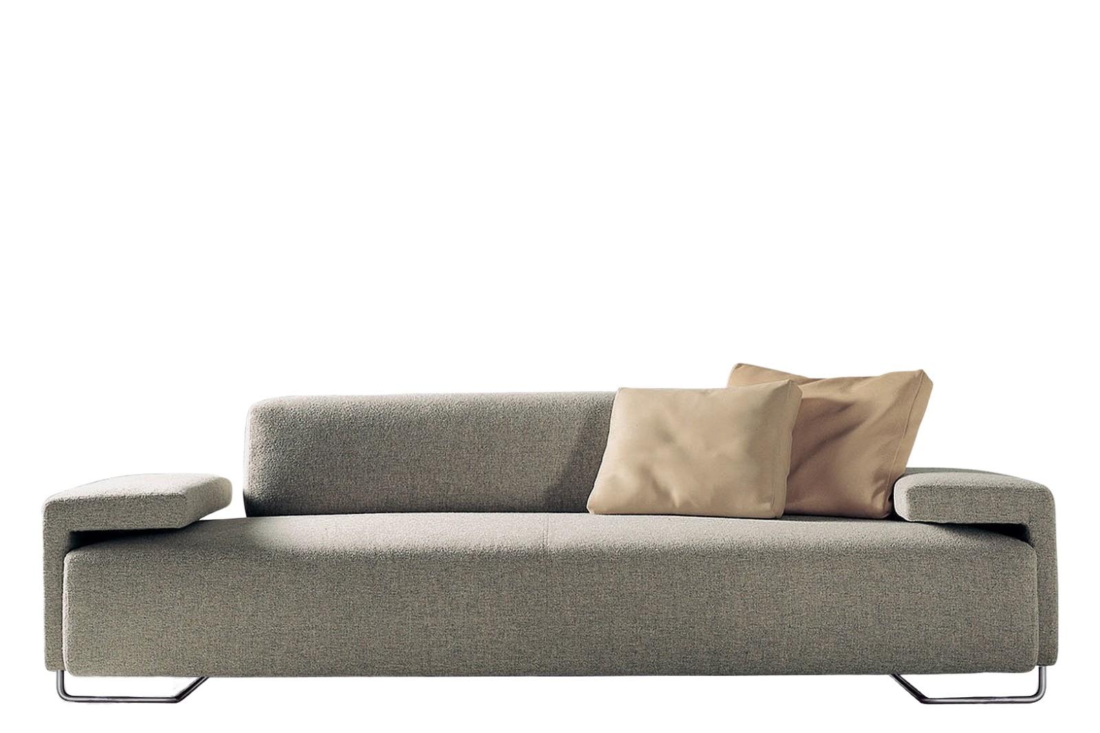 Lowland 3 Seater Sofa B0211 - Leather Oil cirè, Oxidored Feet
