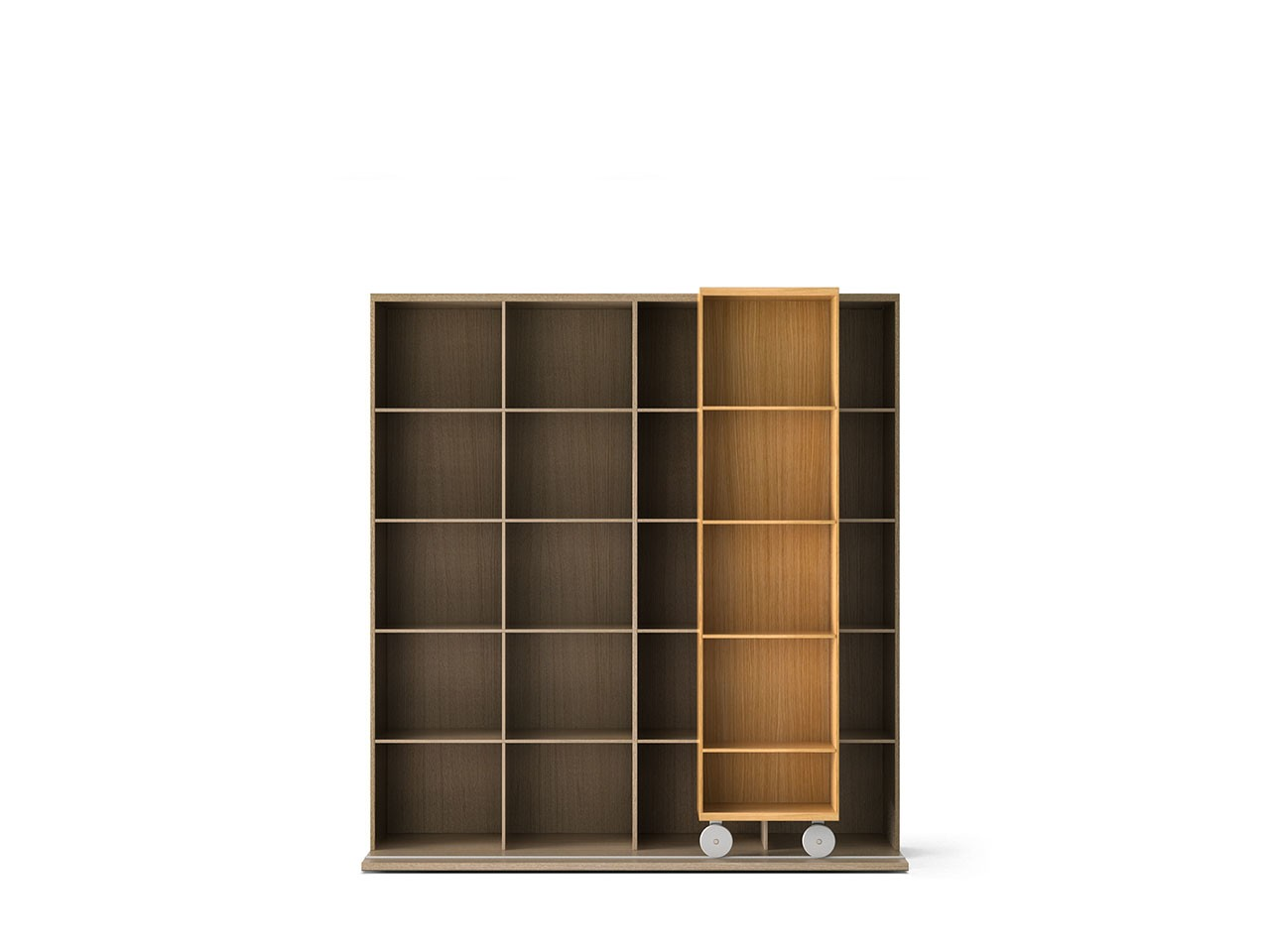LTL420 Literatura Light Bookcase Super-matt Oak, Whitened Oak