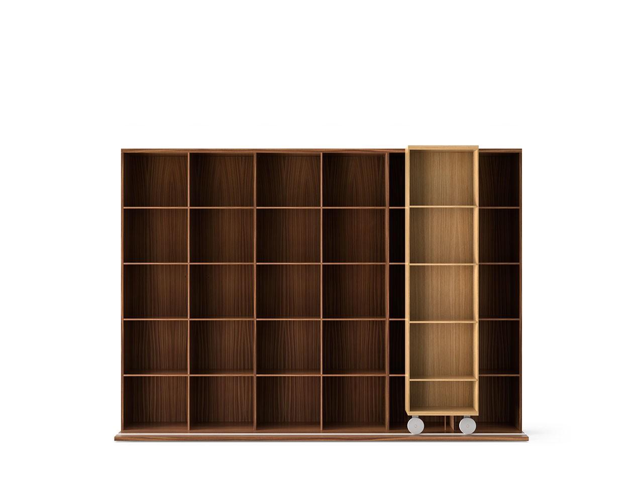 LTL430 Literatura Light Bookcase Super-matt Oak, Super-matt Walnut