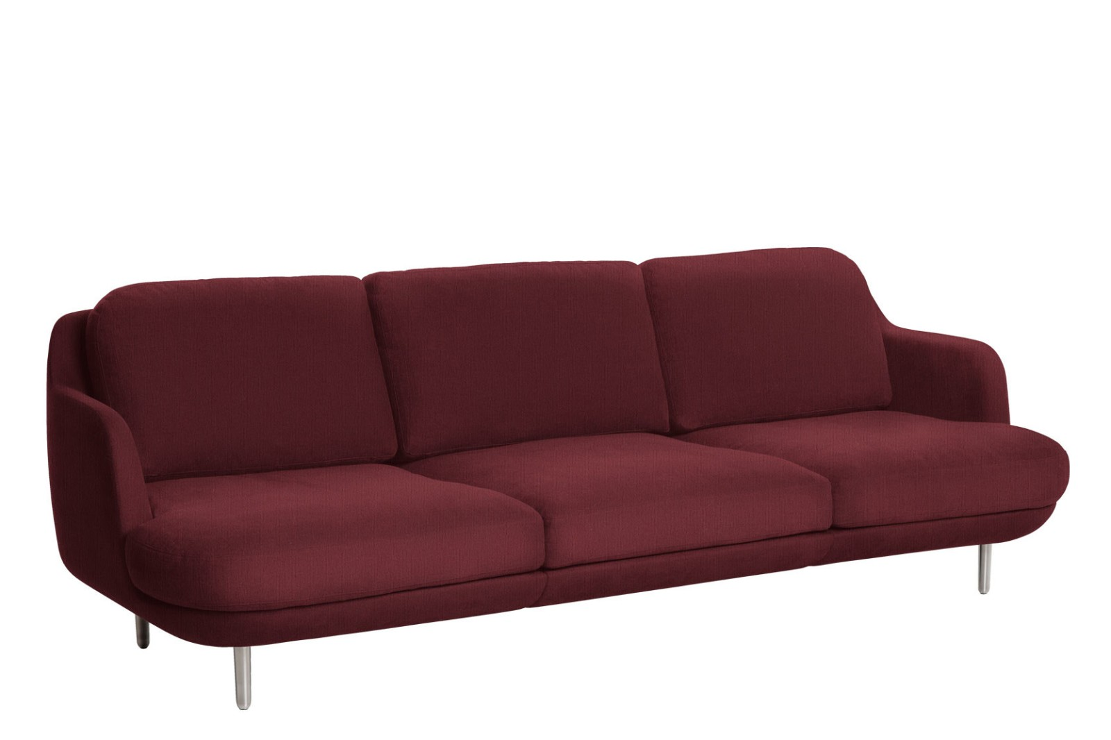 Lune JH300 3-Seater Sofa Christianshavn Fabric 1140, aluminium